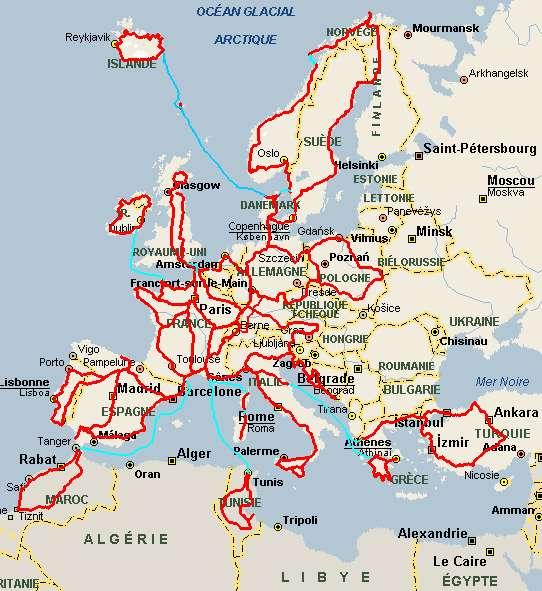 Carte Europe Vacances.Index